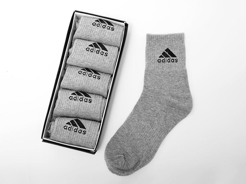 4cea020d71696 ... Носки длинные Adidas - 5 пар цвет Серый. на сайте представлены  фотографии реальных товаров