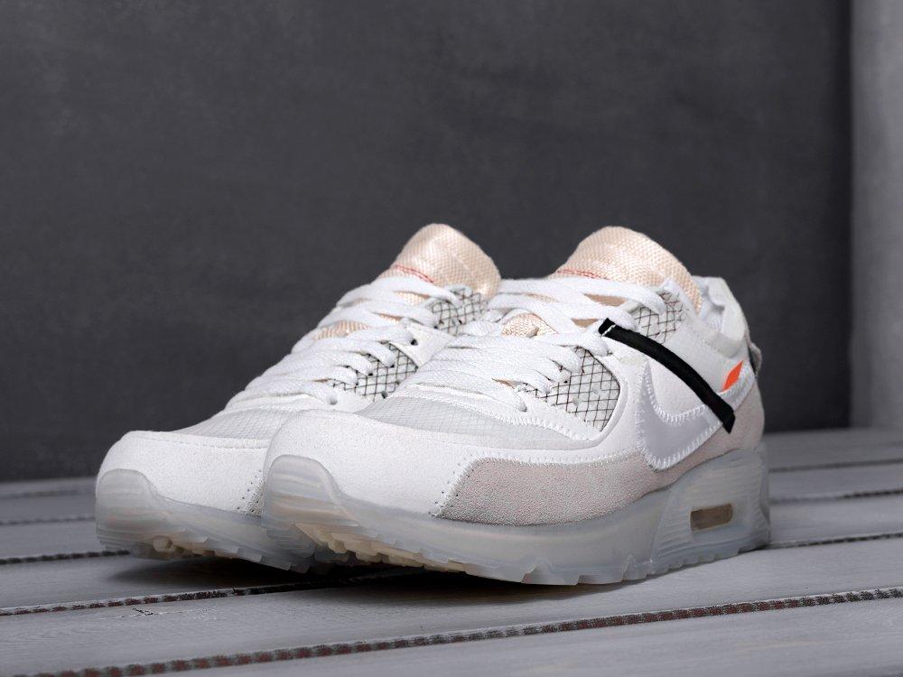 Кроссовки Nike Air Max 90 x Off White цвет Белый