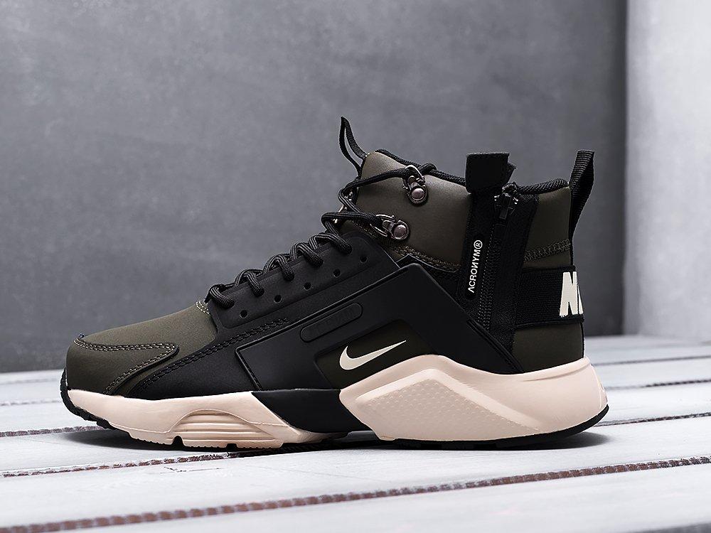 sports shoes 4a517 54c32 Кроссовки ACRONYM x Nike Air Huarache цвет Зеленый