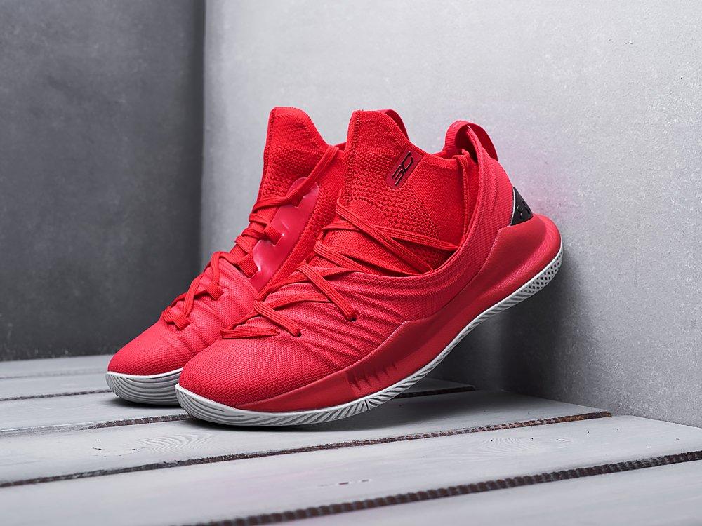 Кроссовки Under Armour Curry 5 цвет Красный купить по цене 3390 рублей в интернет-магазине outmaxshop.ru с доставкой ☑️
