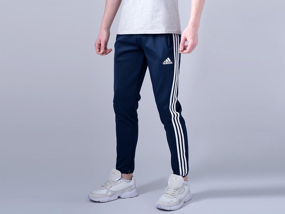 Брюки спортивные Adidas цвет Синий купить по цене 1790 рублей в интернет-магазине outmaxshop.ru с доставкой ☑️