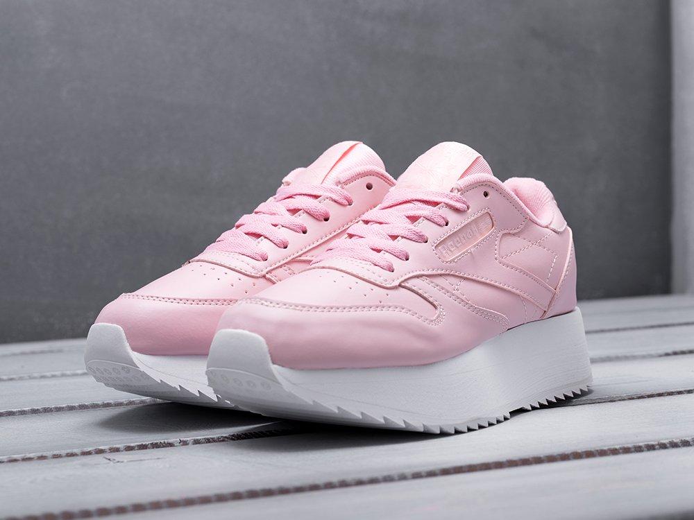 Кроссовки Reebok Classic Leather Double цвет Розовый