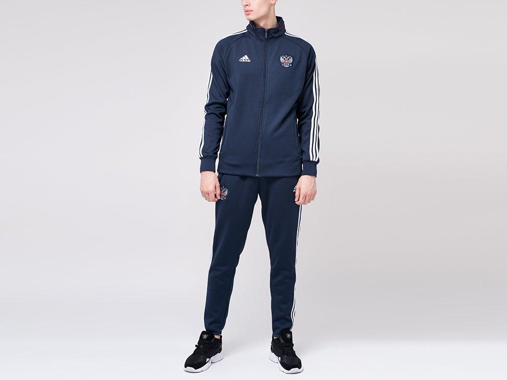 Спортивный костюм Adidas цвет Синий купить по цене 2090 рублей в интернет-магазине outmaxshop.ru с доставкой ☑️