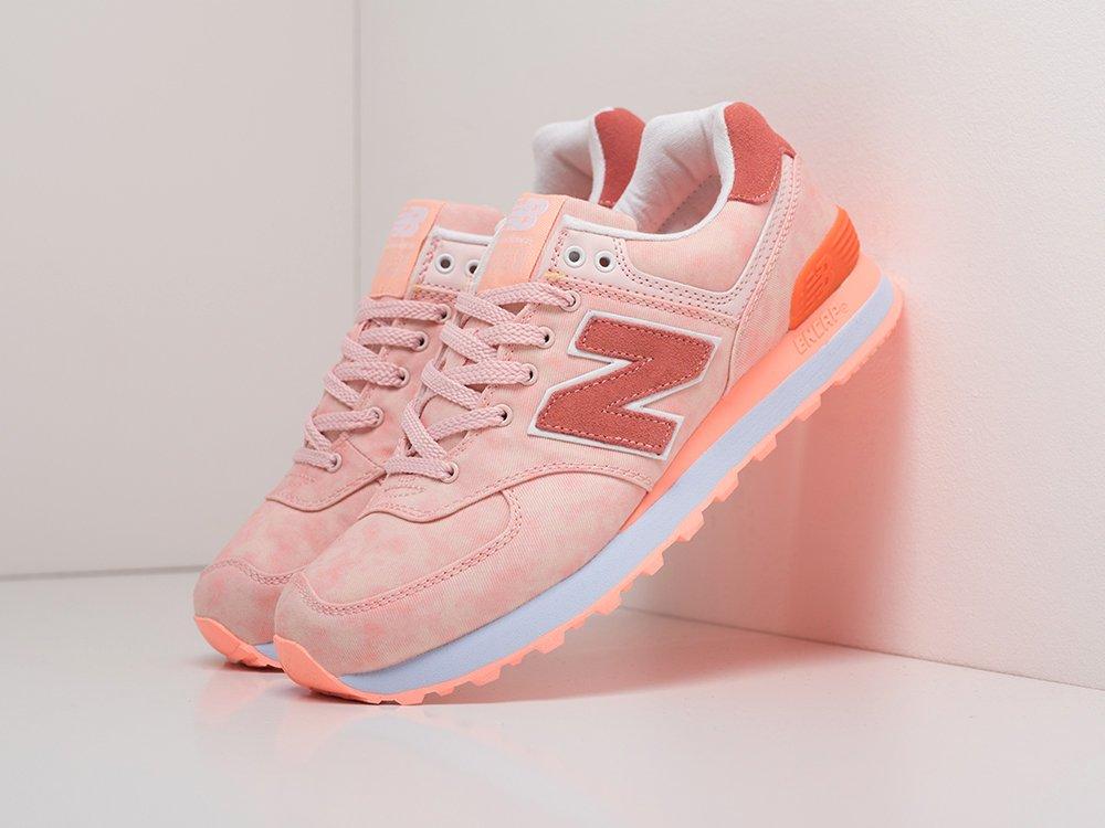 Кроссовки New Balance 574 цвет Розовый купить по цене 1990 рублей в интернет-магазине outmaxshop.ru с доставкой ☑️