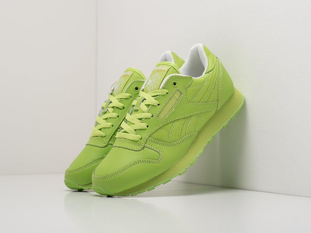 Кроссовки Reebok Classic Leather цвет Зеленый купить по цене 2090 рублей в интернет-магазине outmaxshop.ru с доставкой ☑️