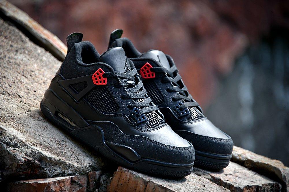 b7b3ac51 Кроссовки Nike Air Jordan 4 Retro цвет Черный купить по цене 3290 рублей в  интернет-магазине outmaxshop.ru с доставкой ☑️