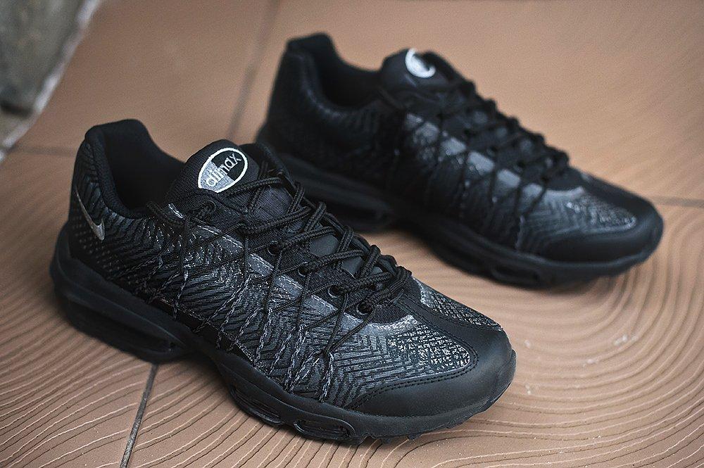 a8ad134c Кроссовки Nike Air Max 95 Ultra JCRD цвет Черный купить по цене 2990 рублей  в интернет-магазине outmaxshop.ru с доставкой ☑️