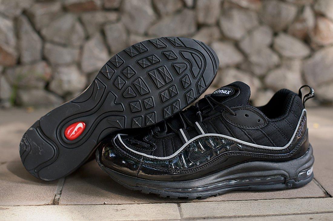 9b6329d7 Кроссовки Nike Air Max 98 x Supreme цвет Черный купить по цене 3390 рублей  в интернет-магазине outmaxshop.ru с доставкой ☑️
