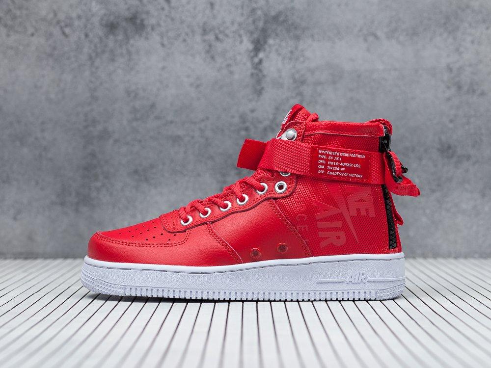 3acf52be ... Кроссовки Nike SF Air Force 1 Mid цвет Красный. на сайте представлены  фотографии реальных товаров