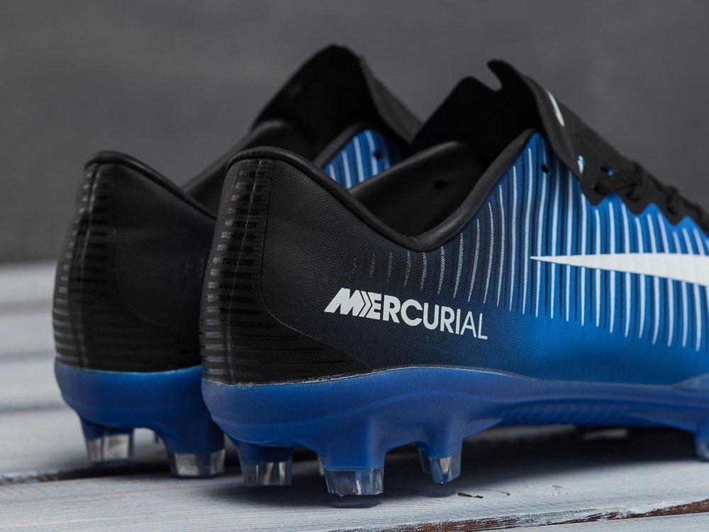 38555d09 ... Футбольная обувь Nike Mercurial Vapor XI FG цвет Голубой. на сайте  представлены фотографии реальных товаров