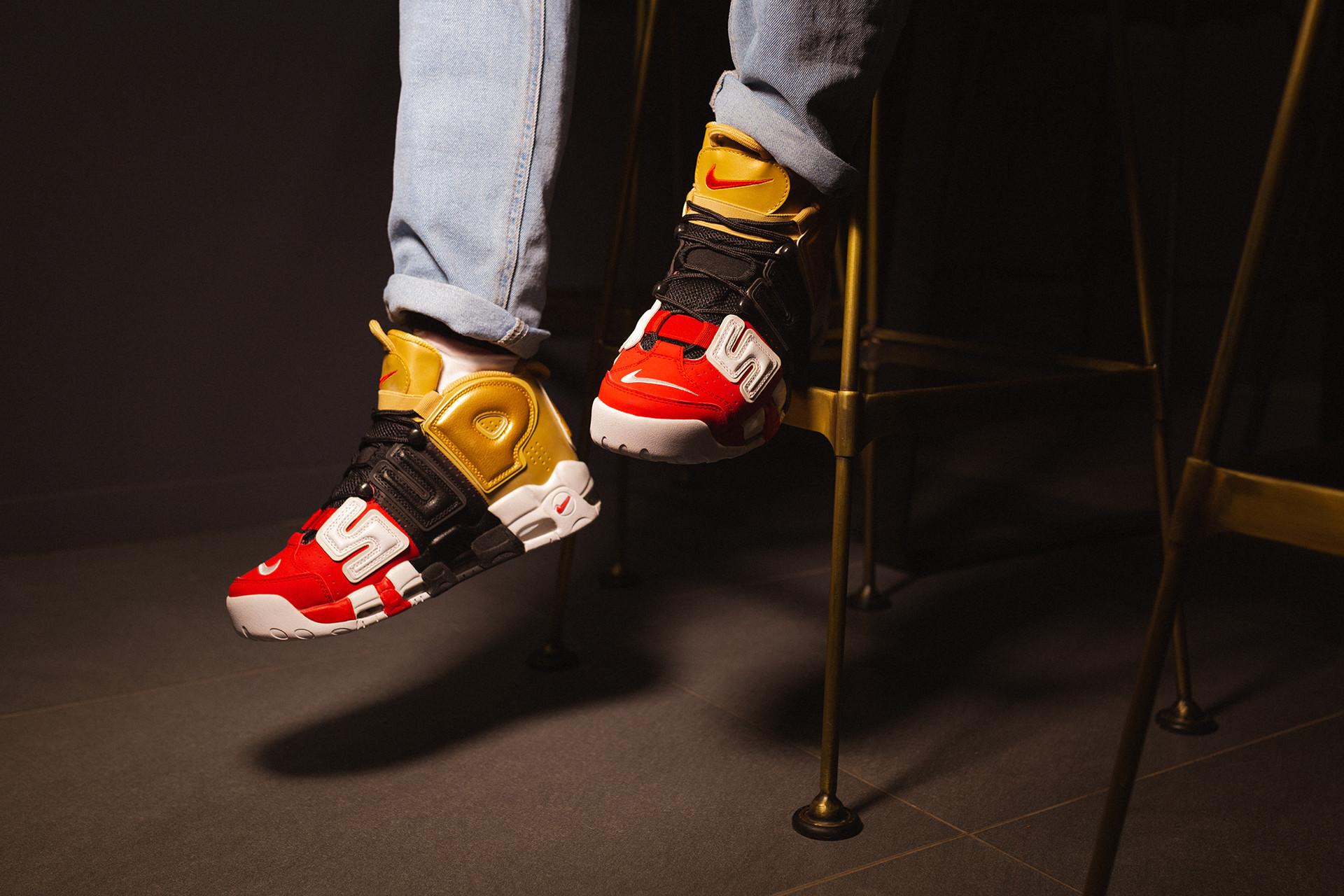 Supreme x Nike Air More Uptempo Tri-color
